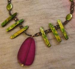 Detail of Carolina's Snake Goddess necklace