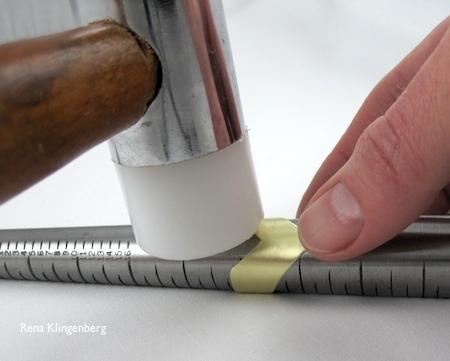 Hammering chevron ring
