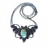 Labradorite Macrame Necklace