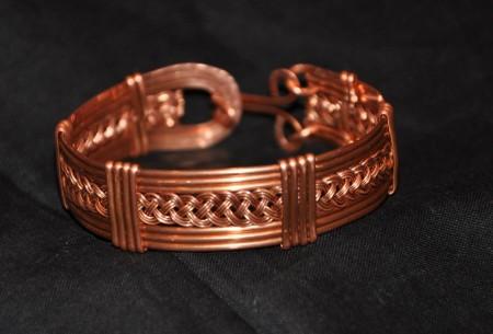Copper Woven Bracelet