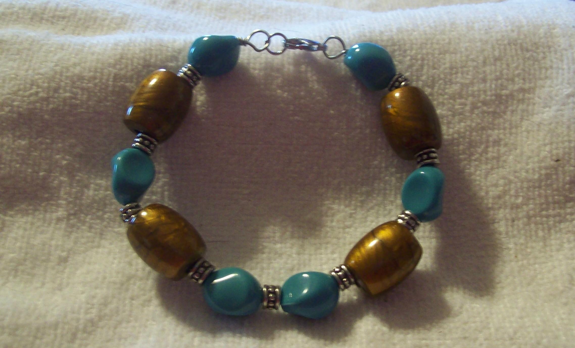 Copper & Turquoise Bracelet