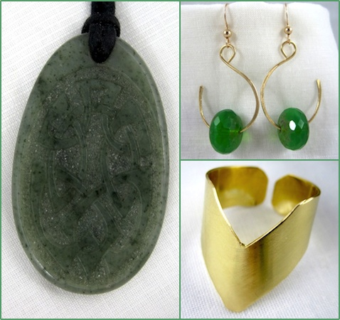 green-and-brass-jewelry