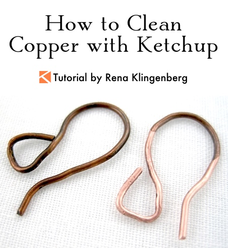 Cleaning Copper with Ketchup Tutorial by Rena Klingenberg