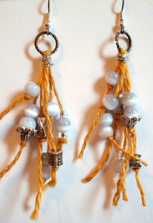 Fun and Funky Jute Cord Earrings