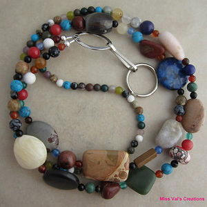 Multi Gemstone Lanyard
