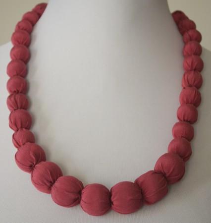 Silk statement necklace.