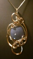 wire wrapped blue stone