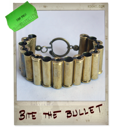 Bullet Bracelet made out of real .32 Magnum bullets! For men and women.