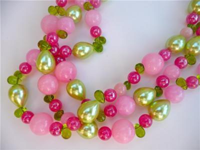 Pink jade and pearls