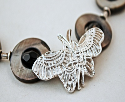 PMC butterfly necklace by Marilyn Davenport