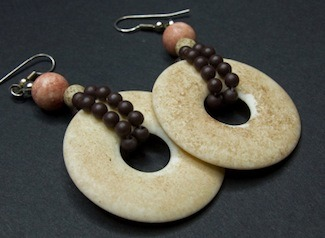 disc and beaded earrings