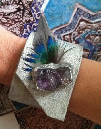 Embellished Silver Cuff