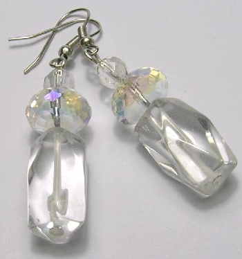 Crystal earrings by Sue Graham