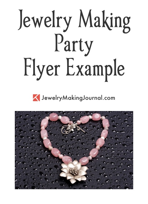 jewelry making party flyer jewelry making journal
