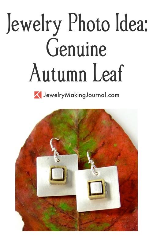 Jewelry Photo Idea, Autumn Leaf