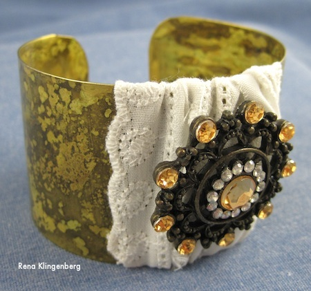 Cuff bracelet makeovers - tutorial by Rena Klingenberg
