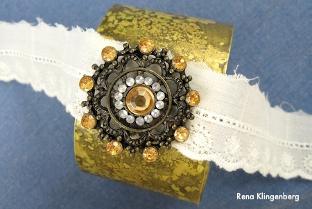 Cuff Bracelet Makeovers - Boho Brooch Cuff how-to