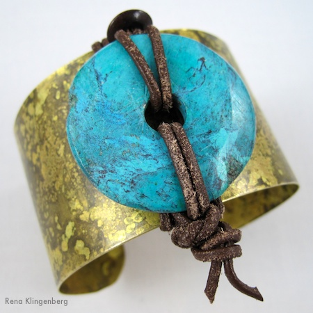 Rustic Artifact Cuff Bracelet Makeover - Tutorial by Rena Klingenberg