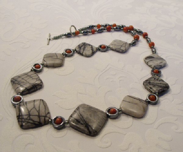 Dripping with Jasper Diamond Shaped Beads