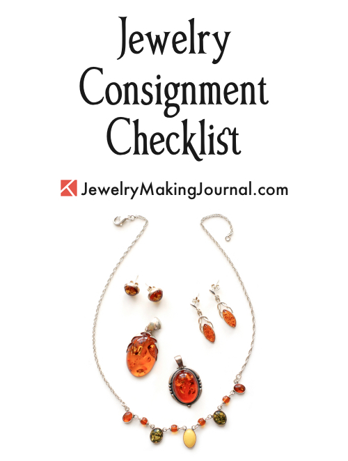 Jewelry Consignment Checklist by Rena Klingenberg, Jewelry Making Journal