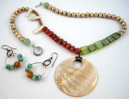 Spring jewelry set by Rena Klingenberg