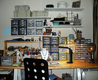 Small Spaces Require A Lot of Organization! — Jewelry Making Journal