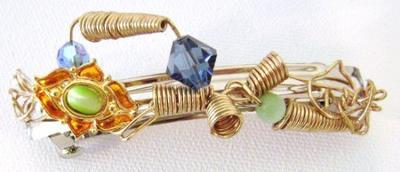 Hair jewelry barrette by Josianne Brousseau