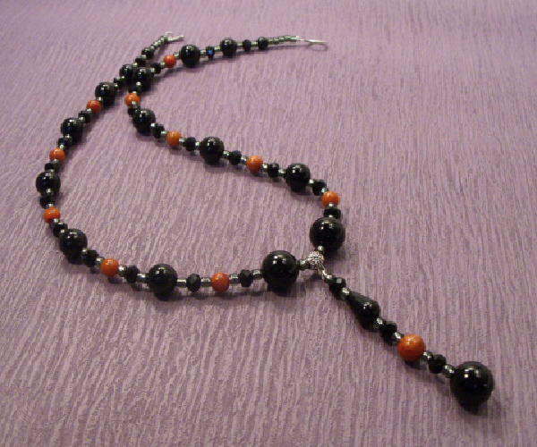 Elegant Onyx with Crystals and Coral