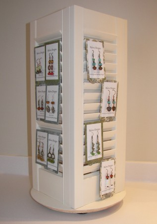 Spinning Shutters Diy Earring Display Jewelry Making