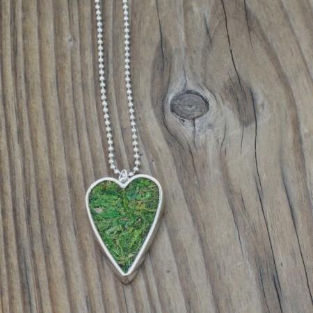 Moss Heart Necklace