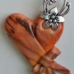 """Terracotta"" Clay Heart Pendant"