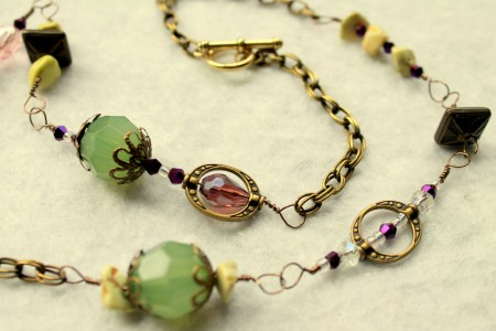 Close up look of Earthen Treasure Necklace by Rups