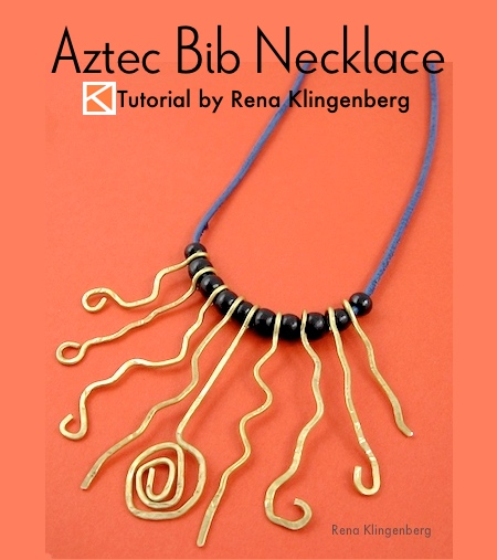 Aztec Bib Necklace Tutorial by Rena Klingenberg