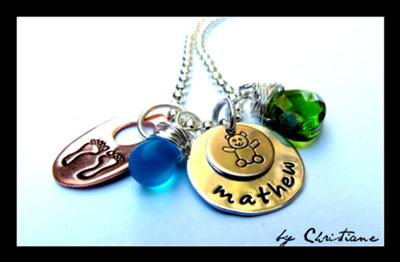 Baby Shower Gift , Mommy Necklace, Personalized Jewelry – Babys Birth