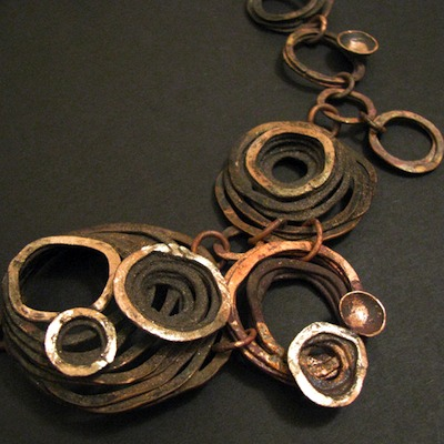 Barnacle Bunches Copper Necklace