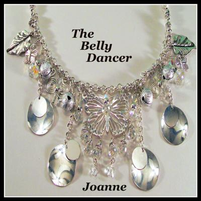 Belly Dancer Necklace & Earrings Set