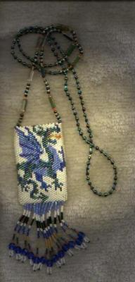 Blue Elemental Dragon Amulet Bag