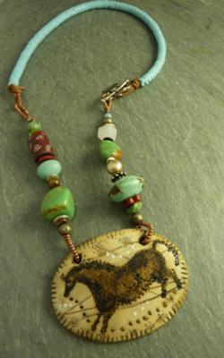 Blue Skies, Wild Pony–Pony Medallion Necklace