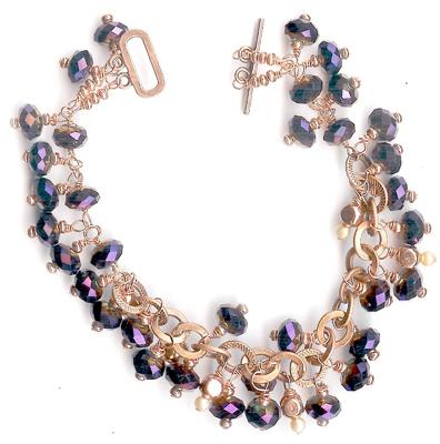 Copper with purple / midnight blue crystals