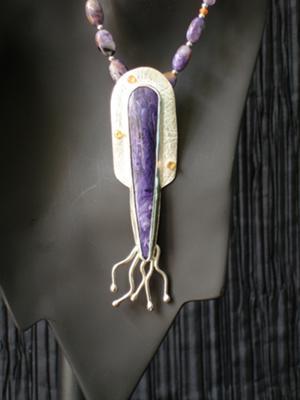 Charoite Cuttlefish Pendant