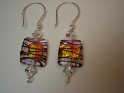 Chocolate Raspberry Sundae Earrings