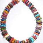 Rainbow Candy Clay Necklace
