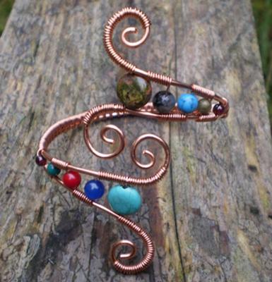 Copper Spiral Cuff Bracelet.