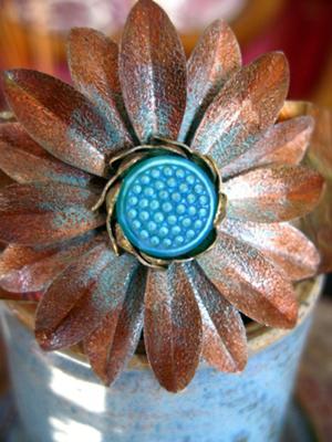 Daisy Flower Cuff Bracelet