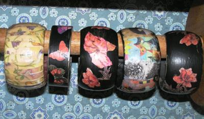 Decoupaged Bangles