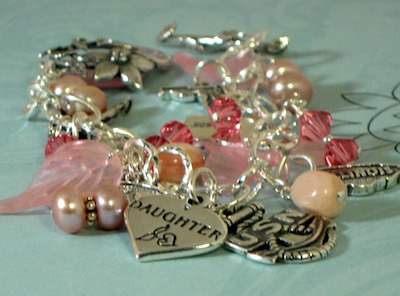 Personalized charm bracelets like this one Dianne Culbertson created