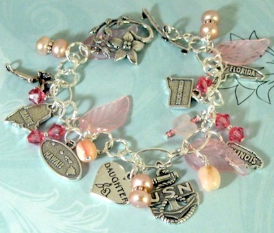 Dianne S Piece Is Also A Nice Example Of The Rapidly Growing Trend Military Charm Bracelets