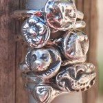 Fine Silver Menagerie Stacking Rings