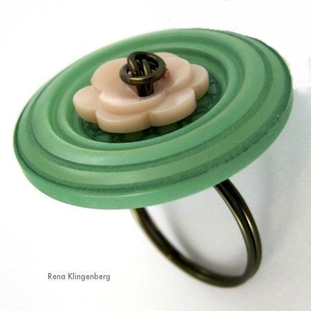 Tutorial de anéis de arame Flower Power por Rena Klingenberg