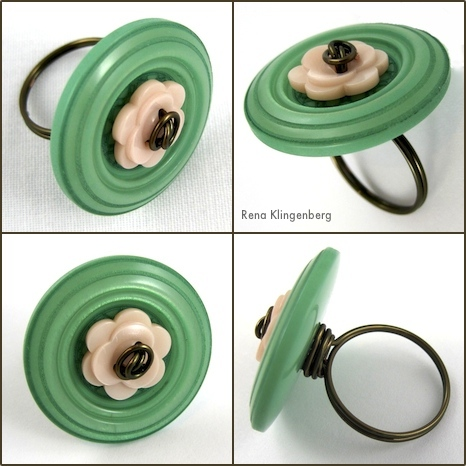 Flower Power Wire Ring Tutorial by Rena Klingenberg
